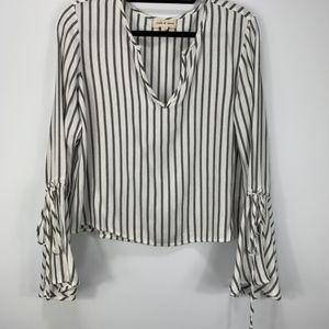 ANTHRO | CLOTH & STONE Long Sleeve Blouse Sz Small